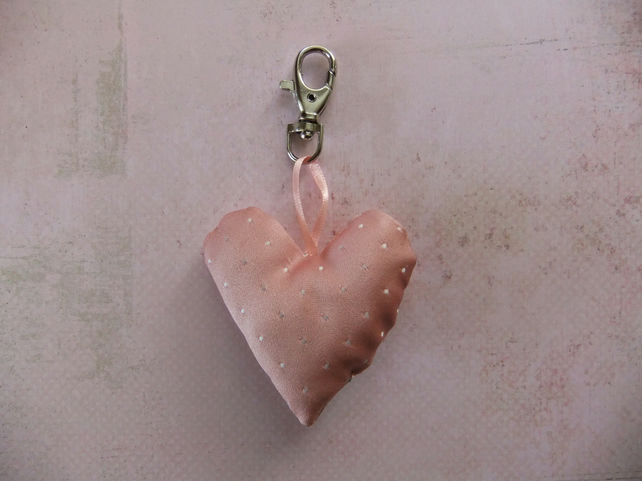 Everything must go! - Vintage fabric clip charm or keyring