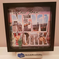 New York USA Statue of Liberty minifigure 3D Picture Photo Frame Perfect Present