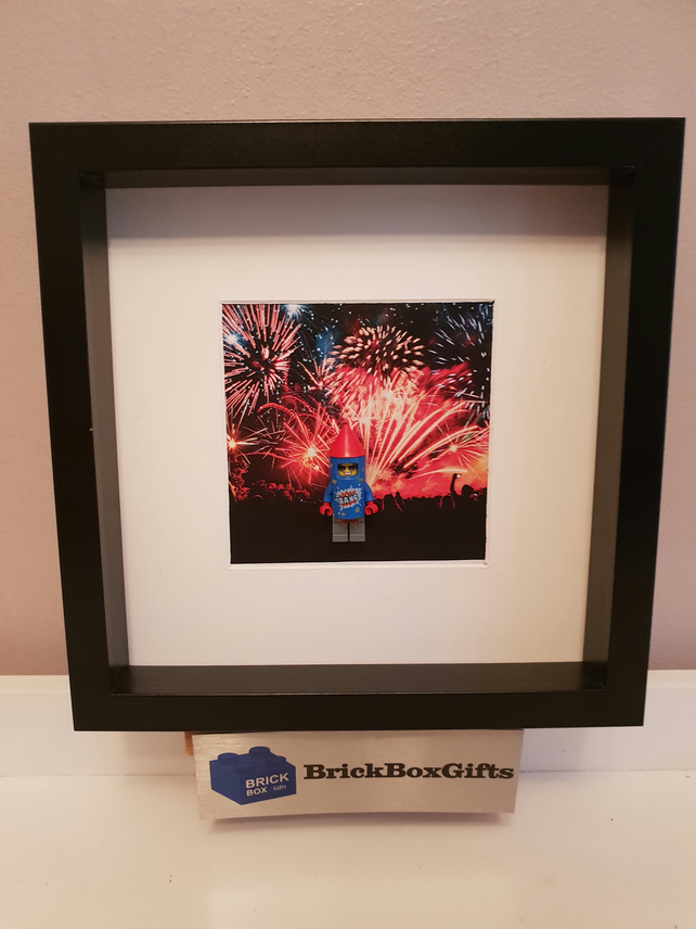 Firework Guy Rocket minifigure 3D frame customise