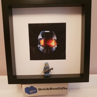 Halo minifigure 3D Frame Master Chief Computer Game XBOX Online Game