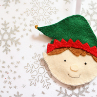 Boy elf decoration
