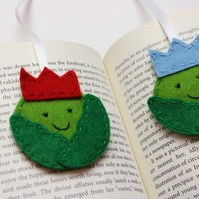 Brussel sprout bookmark