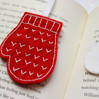 Christmas mittens bookmark