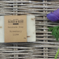 Rosemary & Lime natural handmade soap bar. 80g