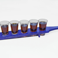 Handmade Shot Glass Paddle, Schnapps Paddle, New Years Gifts, Celebration Glasse