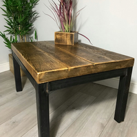 Reclaimed rustic industrial coffee table