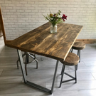 Industrial Dining Table Calia Reclaimed Style Vintage Rustic Farmhouse
