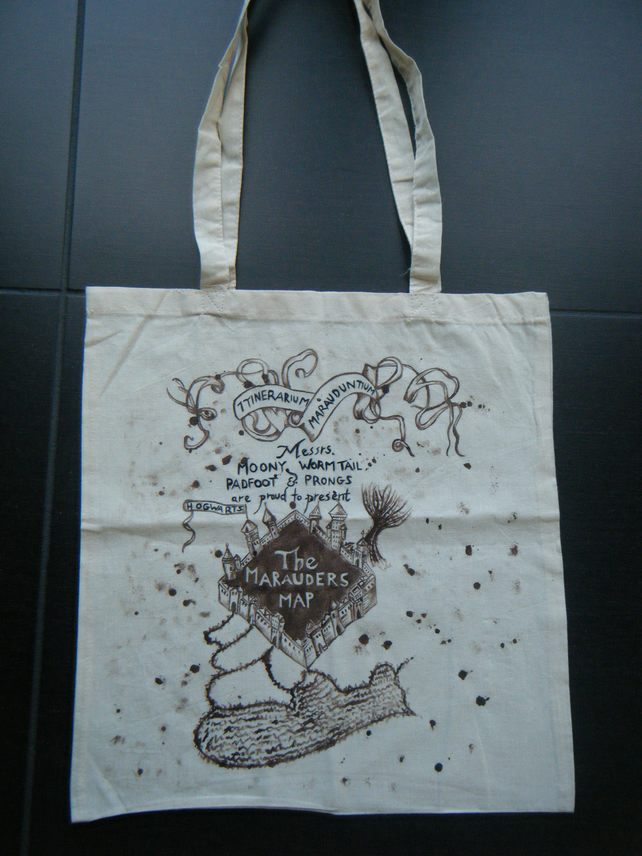 Harry Potter Marauders Map Tote Bag