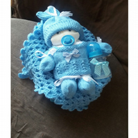 Baby Nappy Cake Knitting Pattern and Tutorial in pdf format (36 page book)
