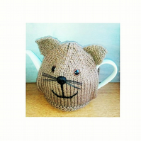 Teddy Tea Cosy Knitting Pattern ion 3 sizes using double knitting yarn
