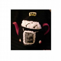 Taxi Tea Cosy Knitting Pattern - car cosy knitting pattern in 3 sizes in DK