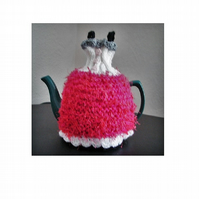 Prom Dress Tea Cosy Knitting Pattern using Double Knit - 3 sizes patterns