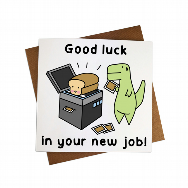 good luck in your new job greeting card new job  folksy