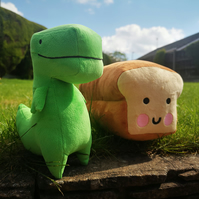 Loof & Timmy Plush Toy DOUBLE PACK Bread Plush Dinosaur Plush Plush Toy Kawaii