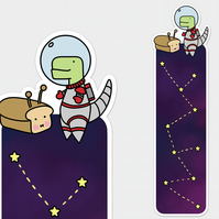 Loof & Timmy Space Bookmark Dinosaur Cute Bookmark Bookmark Space Bookmark Dinos