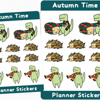 Loof & Timmy Autumn Planner Stickers Fall Stickers Cute Autumn Stickers Autumn