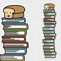 Loof Book Tower Bookmark Bread Bookmark Cute Bread Cute Bookmark Kawaii Bookmark