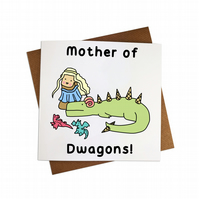 Mother of Dragons Greeting Card Game of Thrones Greeting Card Dinosaur greeting