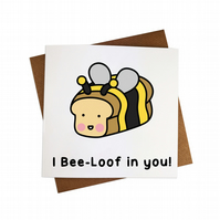 I believe in you card I Bee-Loof in you card You can do it card Motivation card