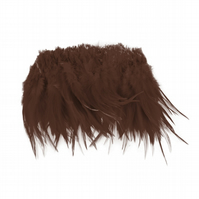 Full Saddle Feather Fringe for Fascinators and Millinery, 20cm (8 inches) long -