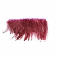 Full Hackle Feather Fringe for Fascinators and Millinery, 20cm (8 inches) or 1 m
