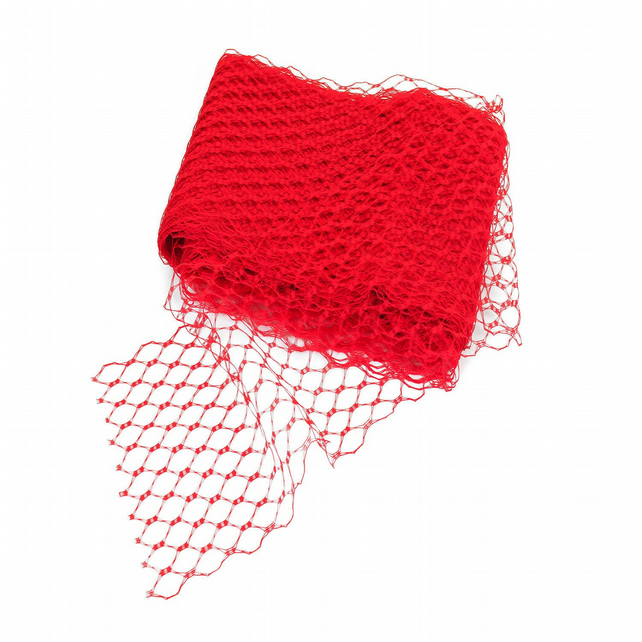 Wide Waffle Veiling for Fascinators and Millinery, 20cm (8 inch) Wide, 1 metre -