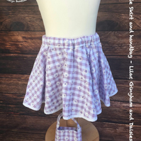 Age 2-3 Circle Skirt and Handbag Handmade