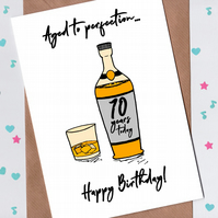70th Birthday Card - Aged to Perfection Whiskey Birthday Card