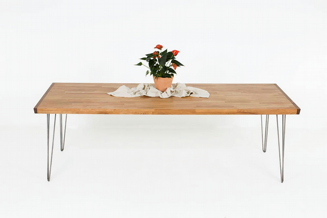 Long Dining Table, Large Family Dining Table, Contemporary All Wood Furniture, M