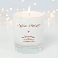 Rainbow Bridge Candle, Pet Memorial Gift, Dog Memorial, Pet Loss Gift, Candle
