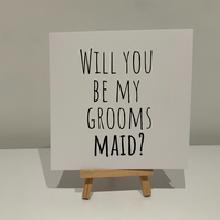 Will you be my grooms maid card, grooms maid proposal card, wedding