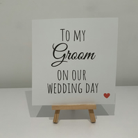 To my groom on our wedding day, to my groom card, on our wedding day