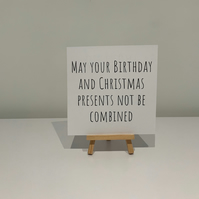 December birthday card, Christmas birthday,