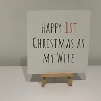 Happy first Christmas as my wife, first Christmas, wife card