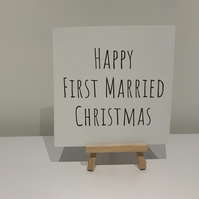 Happy first married Christmas, Christmas card husband, wife, spouse
