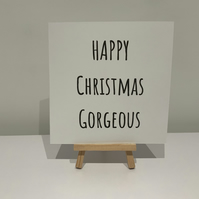 Happy Christmas Gorgeous card, partner, wife, husband, boyfriend, girlfriend