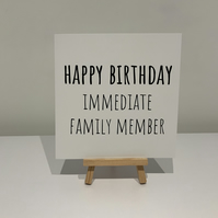 Birthday card, relative birthday, family, immediate family member, brother,