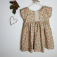 Girls dress, floral dress, short sleeve dress, autumn dress, vintage style dress