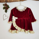 Christmas Dress, toddler christmas outfit, vintage christmas dress, red dress