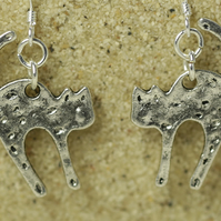 Silver Cat Earrings - No. 1