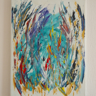 abstract oil and acrylic canvas painting