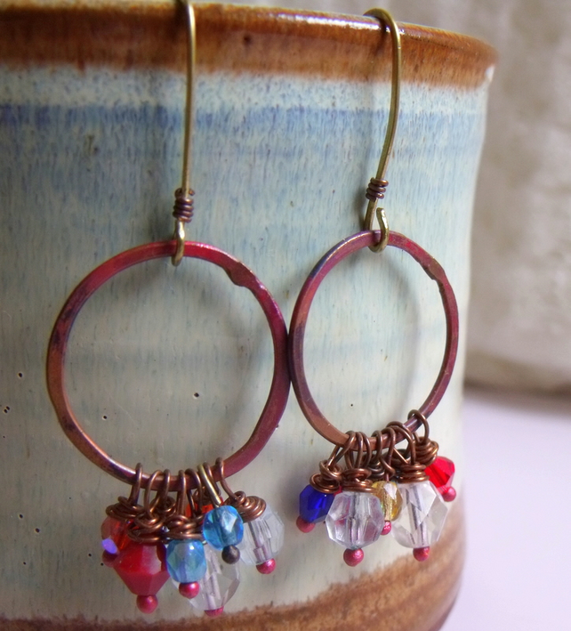 Czech Crystal Handcrafted Earrings, Simply Sparkle