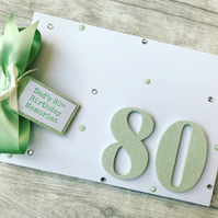 Personalised 80th Birthday Guest Book Memory Scrapbook Photo Album Gift