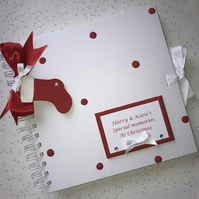 Personalised 8x8 Special Memories Christmas Stocking Scrapbook Photo Album Gift