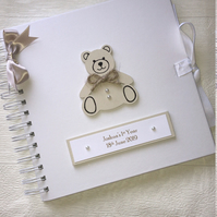 Personalised 8x8 Teddy 1st Year Baby Memory Book Scrapbook Photo Album Gift