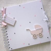 Personalised 8x8 New Arrival Newborn Baby Memory Book Scrapbook Photo Album Gift