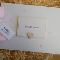 Personalised Best Friends Glitter Scrapbook Memory Photo Album Gift
