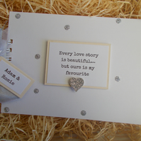 Personalised Couple Love Story Glitter Scrapbook Memory Photo Album Gift