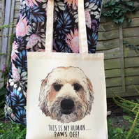 Tote Bag with your Pet, This is My Human, Dog Custom Tote, Pet Printed Bag