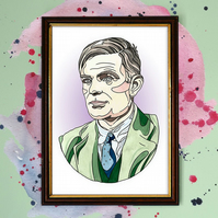 Alan Turing Watercolour Print